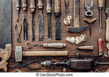 葡萄酒, 工作台, 木材加工, 工具