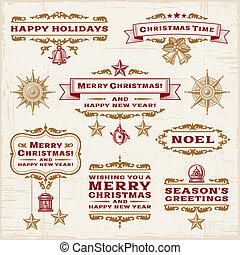 葡萄酒, 標籤, 聖誕節