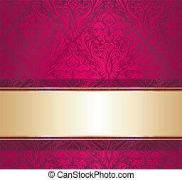 葡萄酒, 牆紙, 紅色, 金
