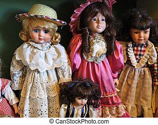 葡萄酒, 玩具娃娃, 古董老, 玩, 商店