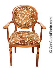 葡萄酒, 白色, chair., 被隔离