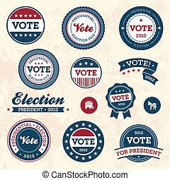 葡萄酒, 選舉, 徽章
