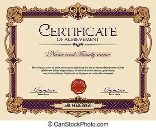 葡萄酒, achievement., 證明