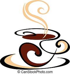 蒸咖啡, 打旋, 杯子