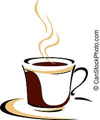 蒸咖啡, 芳香, 杯子