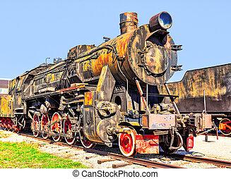 蒸汽, 生鏽, 老, 機車