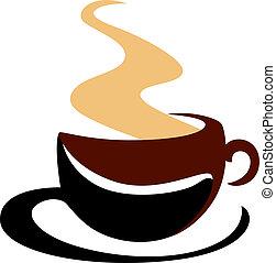 蒸發, 熱的咖啡, 杯子
