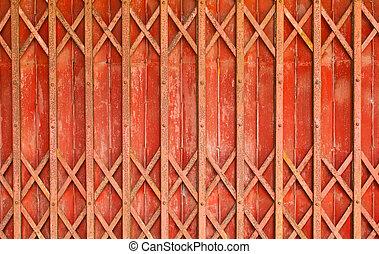 蒼白, 生鏽, 門, 紅色
