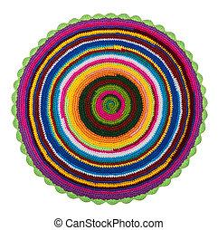 蓆子, 鮮艷, 編織, 背景, 鉤針編織, 丙烯酸, 白色