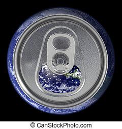 蓋子, 地球, 打開, 罐頭, 蘇打