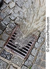 蓋子, rainwater, 渠道