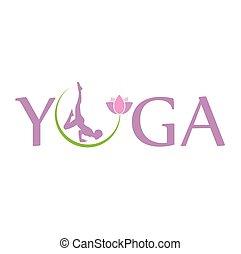 蓮花, 符號, 花, 瑜伽