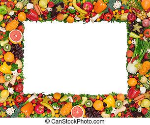 蔬菜, 框架, 水果