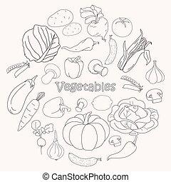 蔬菜, 矢量, 彙整
