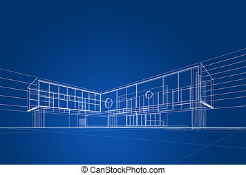 藍圖, 建築學