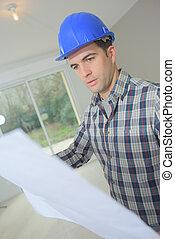 藍圖, 建造建筑物, 站點, 工程師