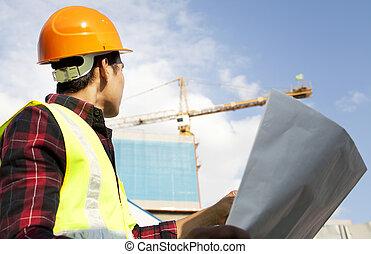藍圖, 建造者, 建築工地