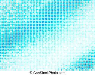 藍色正方形, 光, 摘要, 背景。, multicolor, 矢量, 瓦片, 象素, 馬賽克