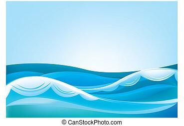 藍色的天空, 海洋波浪