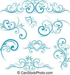 藍色的形狀, 紙卷