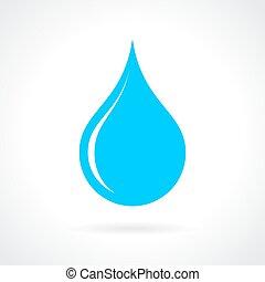 藍色的水, 下降, 圖象
