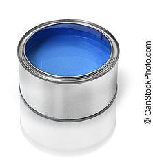 藍色的油漆, 罐頭能