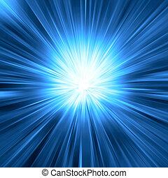 藍色的燈, 爆發