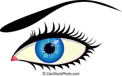 藍色的眼睛, 美麗