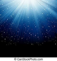 藍色的雪, eps, 星, 8, 發光, rays.