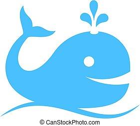 藍色的鯨魚, 矢量, 圖象