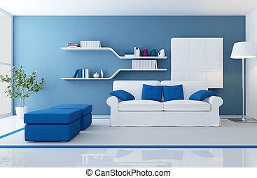 藍色, 內部, 現代