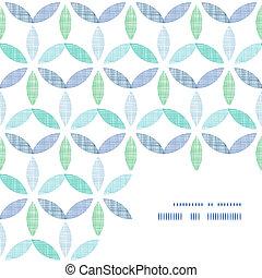藍色, 圖案, 摘要, 紡織品, 綠色的背景, 離開, 角落, 框架