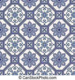 藍色, 圖案, seamless, 蔓藤花紋, 灰色