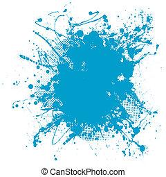 藍色, 團點