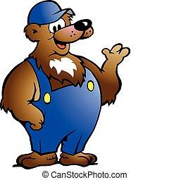 藍色, 套衣, 熊