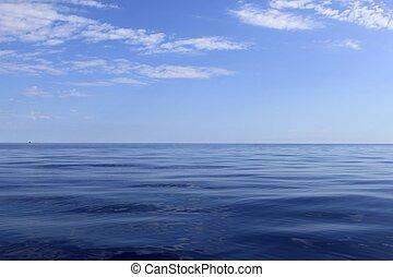 藍色, 完美, 海, 海洋, 平靜, 地平線