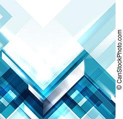 藍色, 幾何學, 現代, 摘要, 背景
