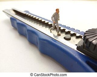 藍色, 微型, 玩具, 圖, 跑, 假裝, 單調的工作, 人, 刀具