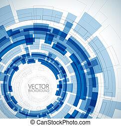 藍色, 技術, 摘要, 背景
