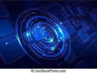 藍色, 摘要, 技術, 背景