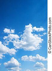 藍色, 明亮的天空, 鮮艷, 背景
