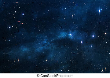 藍色, 星云, 背景, 空間