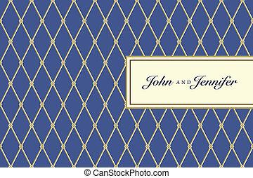 藍色, 格子花呢, 圖案, 框架, 矢量, 裝飾華麗, 小