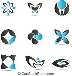 藍色, 標識語, 元素
