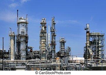藍色, 油, 天空, 工業, 金屬, 地平線, 安裝