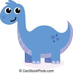 藍色, 漂亮, 白色, 被隔离, 恐龍