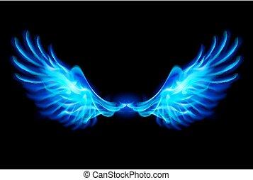 藍色, 火, wings.
