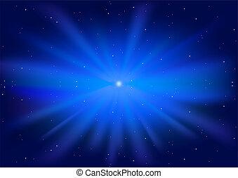 藍色, 發光, 星