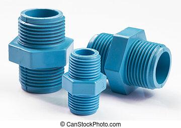 藍色, 管子, pvc, 連接