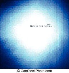 藍色, 背景。, 摘要, 明亮